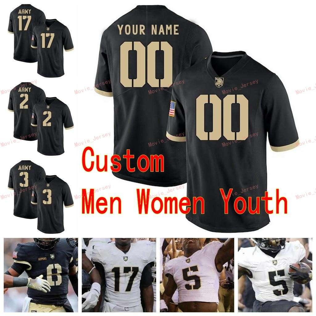 Cousu 3 Sandon McCoy 32 Artite Hobbs IV 33 Darnell Woolfolk 35 Doc Blanchard Armée Black Knights College Hommes Femmes Jersey Jersey