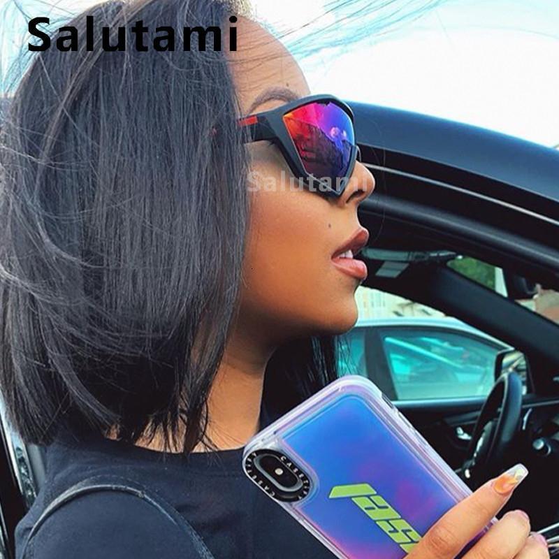 Vintage tamanho grande espelho espelho óculos de sol para mulheres 2020 óculos de solo à prova de vento óculos de sol homens esporte hip hop máscaras
