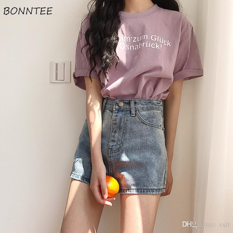 Shorts Mulheres verão na moda chique estudantes coreanos básicos denim curto mulheres de alta qualidade magro simples diariamente senhora moda bolso macio