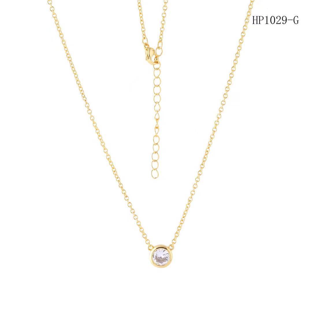 fashion women single diamond necklace wholesale designer jewelry fashion chain healing crystals necklace designer necklace
