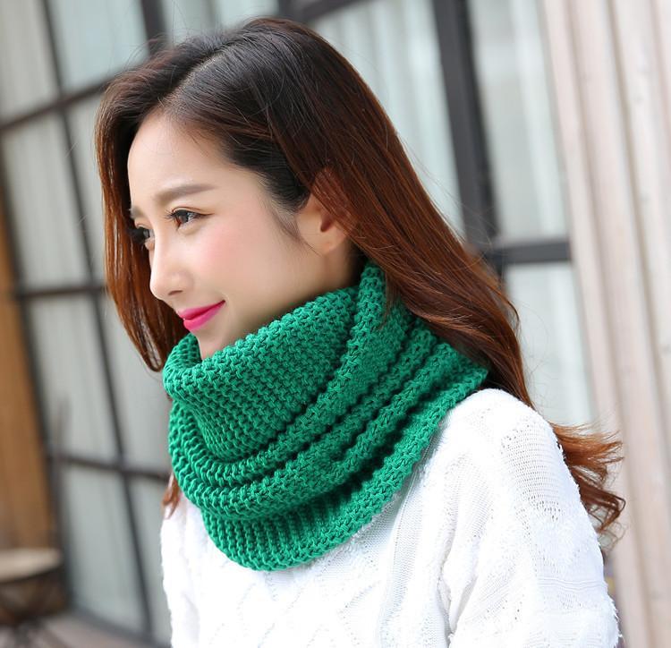 Sciarpa invernale donna infinito sciarpa a maglia sciarpa cerchio collo sciarpa donna super chunky loop snood unsex solido all'uncinetto solido