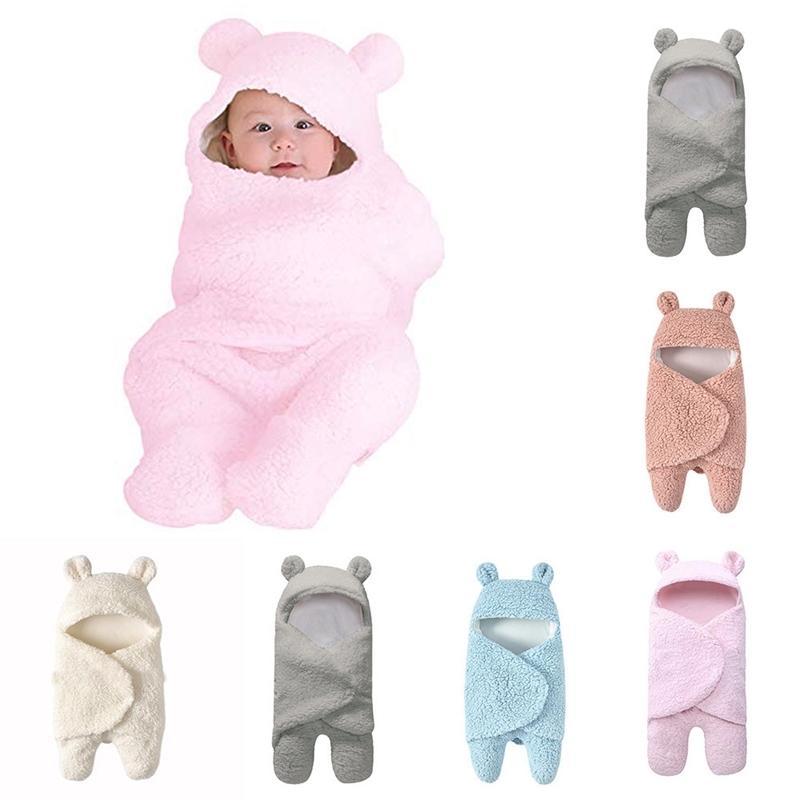 0-12momth Baby Decken Neugeborenen 5 Farben Nette Baumwolle Baby Swaddle, die weiße schlafende Blanket Jungen Mädchen Wrap Swaddle 201106 empfangen
