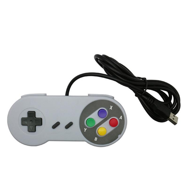 Controller Classic Controller USB Controller PC Gamepad Joypad Joystick Sostituzione per Super Nintendo SF per SNES NES Tablet PC Liwodows Mac