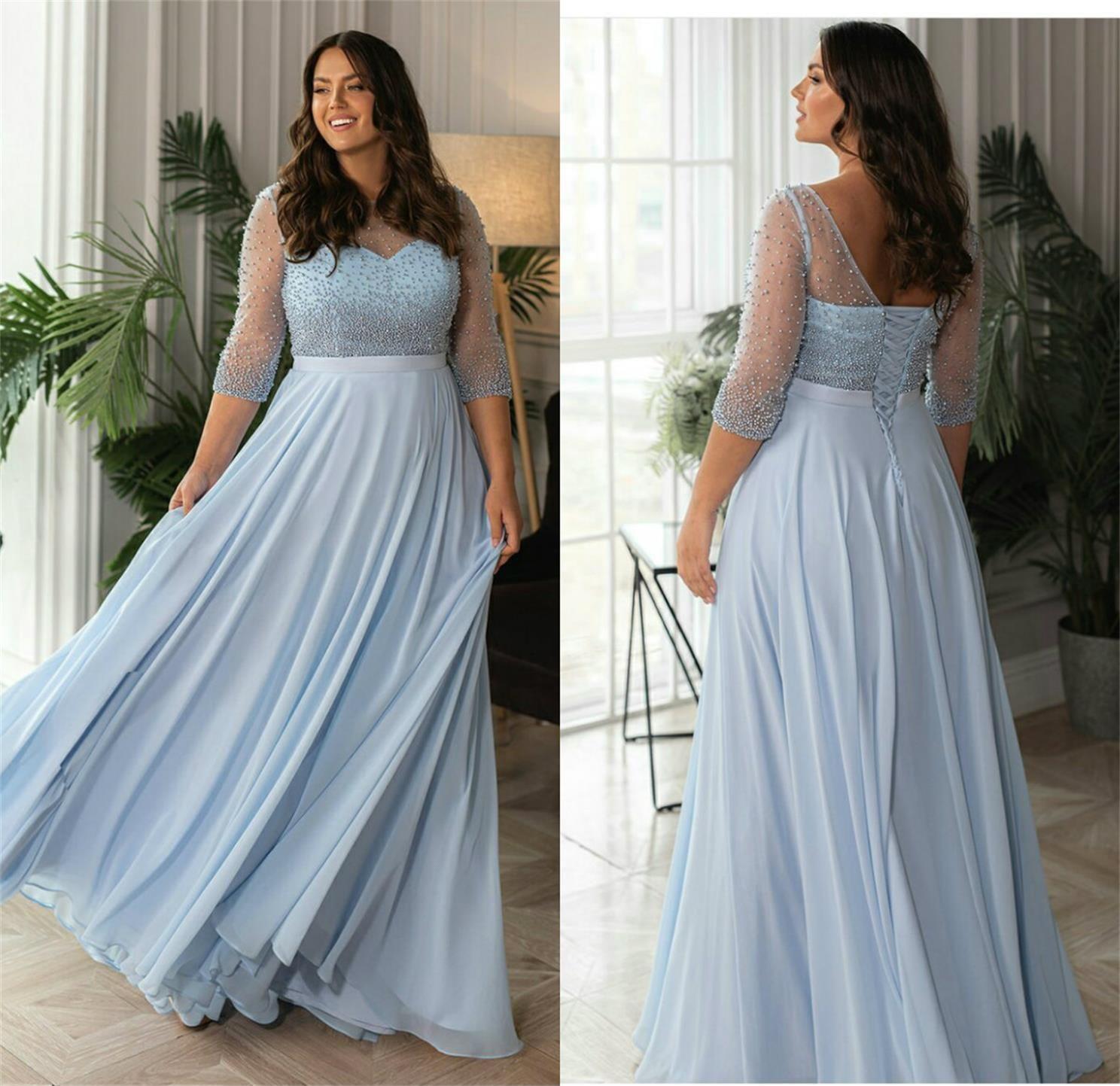 Plus size vestidos de noite personalizados feitos frisados vestido de baile de baile de jóias comprimento de piso formal vestidos de festa