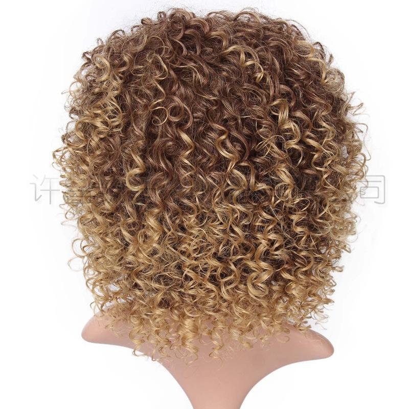2021 شعر مستعار أوروبي والأمريكي الشائعات، السيدات، القوائم الصغيرة الأفريقية، تجعيد الشعر القصير، تجعيد الشعر القصير، رؤساء الألياف الكيميائية، الشركات المصنعة من S