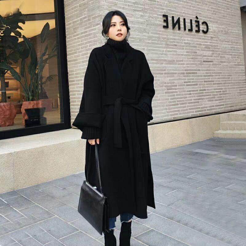 Neue Wintermantel Frauen Übergröße Mode Kaschmir Wolle Oberbekleidung Weibliche Lang Verdickung Warme Wollüberzug Damen Grabenmäntel