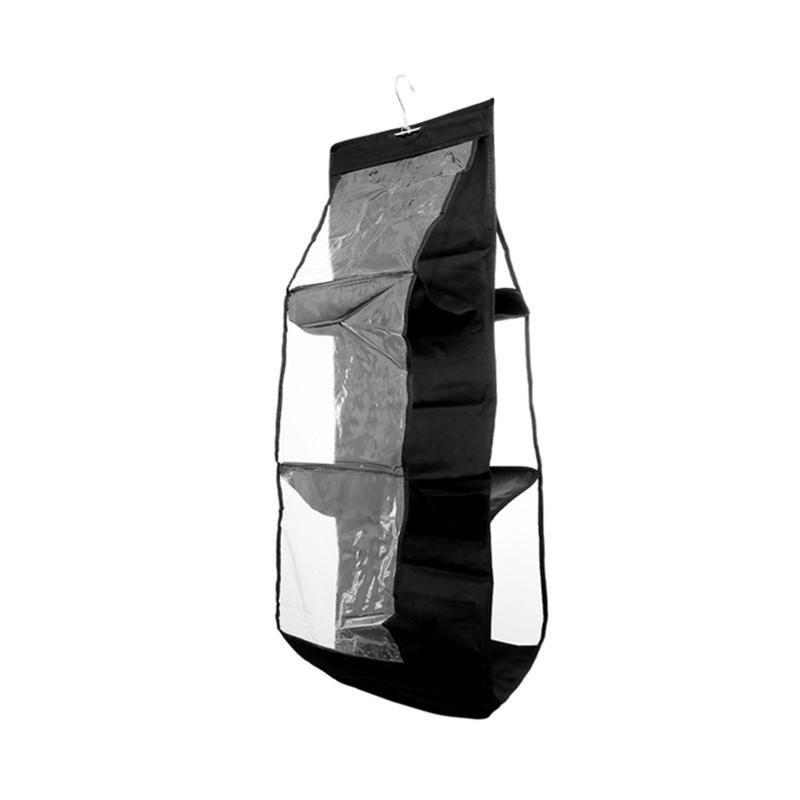 Tidy Purse Pocket Clear 6 Shoe Bag Hanging Organiser Pouch Wardrobe Closet Hanger Sundry 25# Handbag With Storage Cdksq