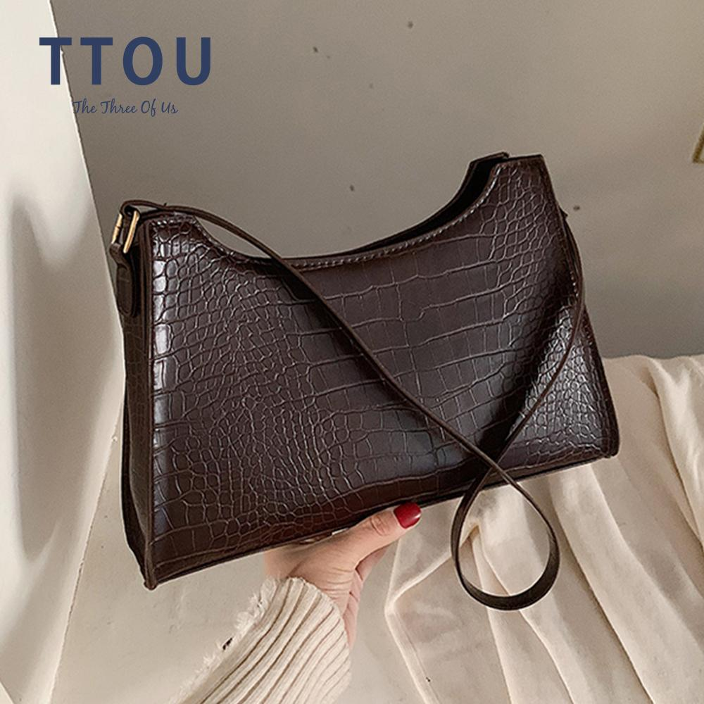 New Crocodile For Women Fashion PU Leather Handbags Vintage Luxury Designer Tote Bags Brand Small Clutches Shoulder Bag Q1118