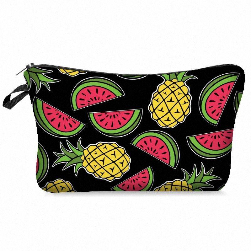 piñas sandías cosmético del bolso impermeable del bolso de la impresión estilo personalizado de viaje bolsas de cosméticos kosmetyczka z0rt #