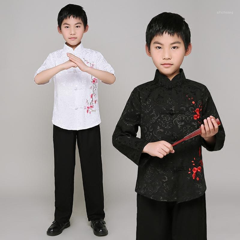 Boys Anciens Costume chinois Tang Hanfu Tops Pantalon Child Classical Dance Vêtements Chinese Folk Dance Costume DNV110371