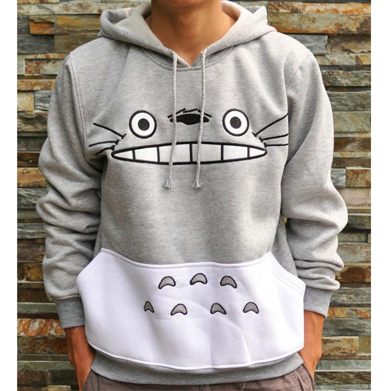 3d verdicken neue Mode-Sweatshirt Männer / Frauen Cartoon Totoro Hoodie Unisex Harajuku Tier Patchwork 3D Pullover Hoodies Tops