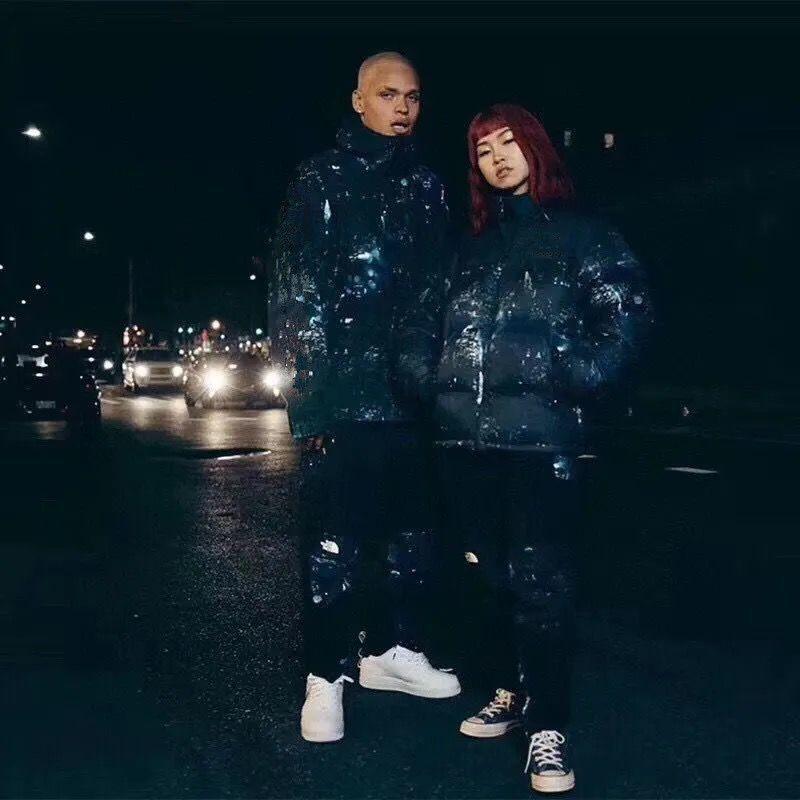 Große Größe Baumwollgepolsterte Jacke Europäische und amerikanische Mode-Marke Winter-Daunenjacke F Warm- und verdickter Herren- und Damen-lockerer Kinderbett