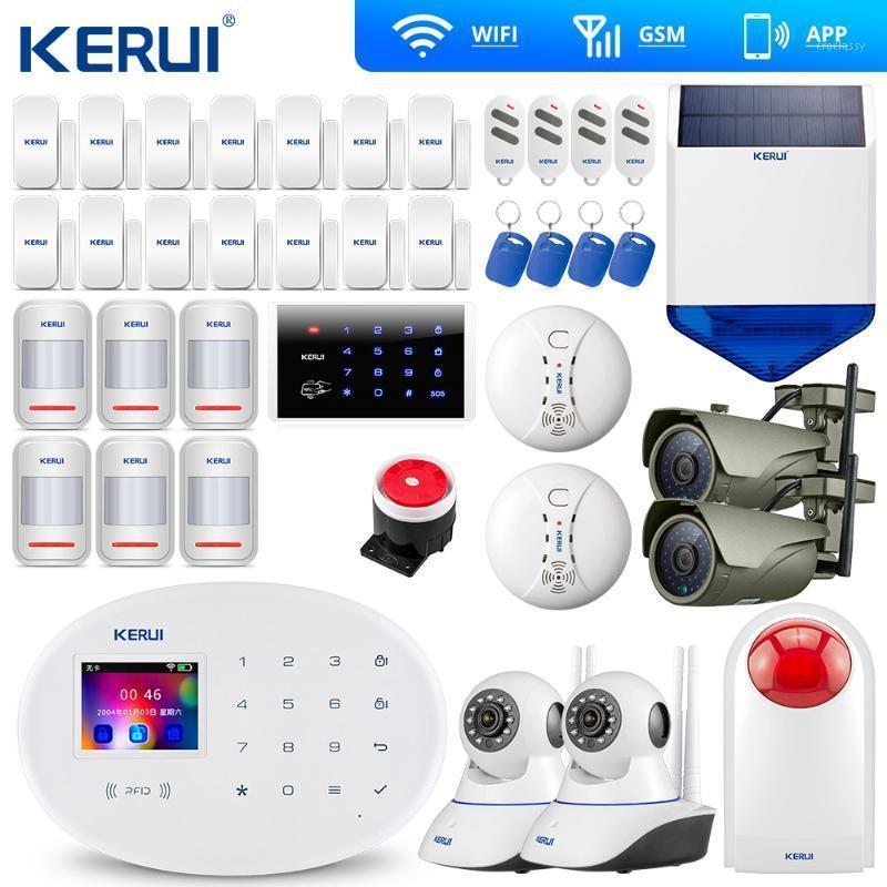 Sistemi di allarme Kerui W20 Touch Panel wireless WiFi GSM Security System System Kit App IP Telecamera Outdoor Solar Siren1