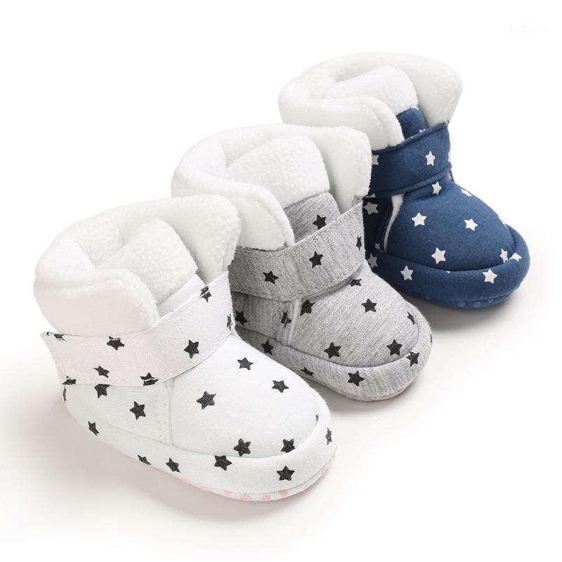2020 Casual Bebê Primeiro Walker Anti-Slip Botas de Neve Infantil Sapatos de Pelúcia Recém-nascidos Menina Bebé Prewalker Inverno Manter Boys Quentes Sapatos1