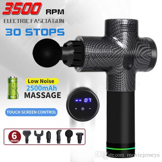 Pistolet de massage corporel d'affichage à écran LCD exercent un masseur de masseur électrique musclé masseur masseur pour le manche de pied et le vibrateur de dos amincissant la mise en forme