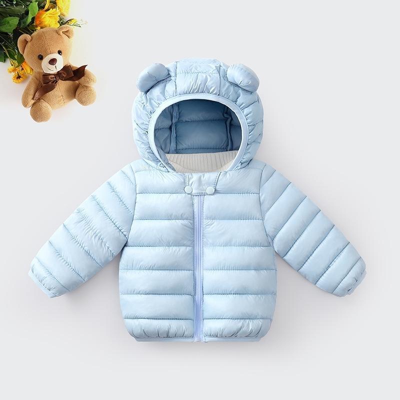 Children de inverno para baixo jaqueta de algodão-acolchoado roupas leves pequenas e médias crianças down meninas sólidas casaco de inverno y200901