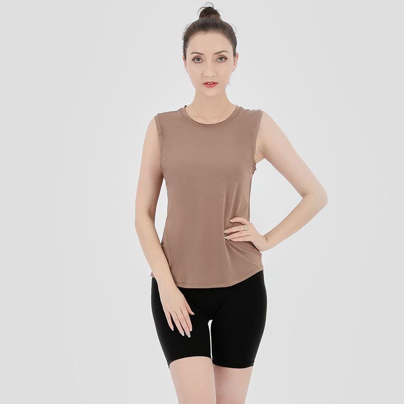 أكمام اليوغا سترة t-shirt الألوان الصلبة النساء أزياء في الهواء الطلق الدبابات اليوغا الرياضة الجري رياضة قمم الملابس