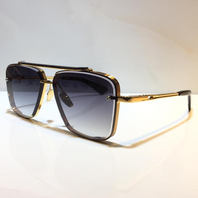 Männer Beliebte Modell M Sechs Sonnenbrillen Metall Vintage Mode-Stil Sonnenbrille Square Rrameless UV 400 Objektiv Kommen Sie mit Paket klassischer Stil