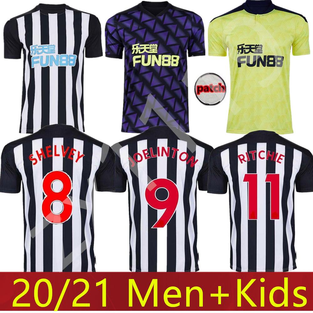 Kit Kids 20 21 Ritchie Futebol Jerseys Home United Joelinto 2020 2021 Home Lascelles Shelvey Football Yedlin camisetas Homens Kit Kit Newcastle