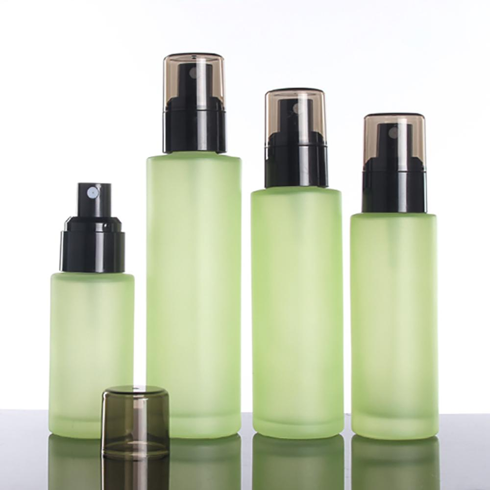 High quality frosted perfume spray glass bottle 40ml recycled bottles,40ml serum pump in stock