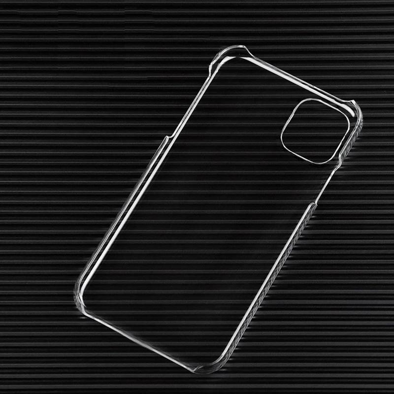 Samsung S20携帯電話用iPhone 11 12 Mini Pro Max超薄型スリム透明PCハードケースクリスタル透明プラスチックシェルカバー
