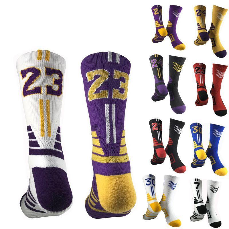 Numeri di pallacanestro d'élite Calzini sportivi da uomo Sorbini da uomo addensante calze da calcio da pallacanestro per uomo Asciugamano Bottom Sport Sports Socks