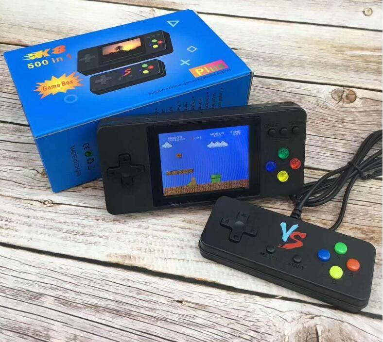 K8 500 jeux de poche Console de jeu de poche 3 pouces écran LCD Rétro Arcade jeu Jouer Soutenir la sortie TV VS 620 x7 821