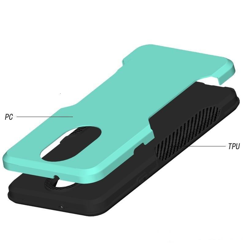 Tributo para K40 LG Stylo 5 Empire Aristo 3 Metropcs Teléfono Armadura Híbrida Armadura de carbono Capitán Caja a prueba de golpes