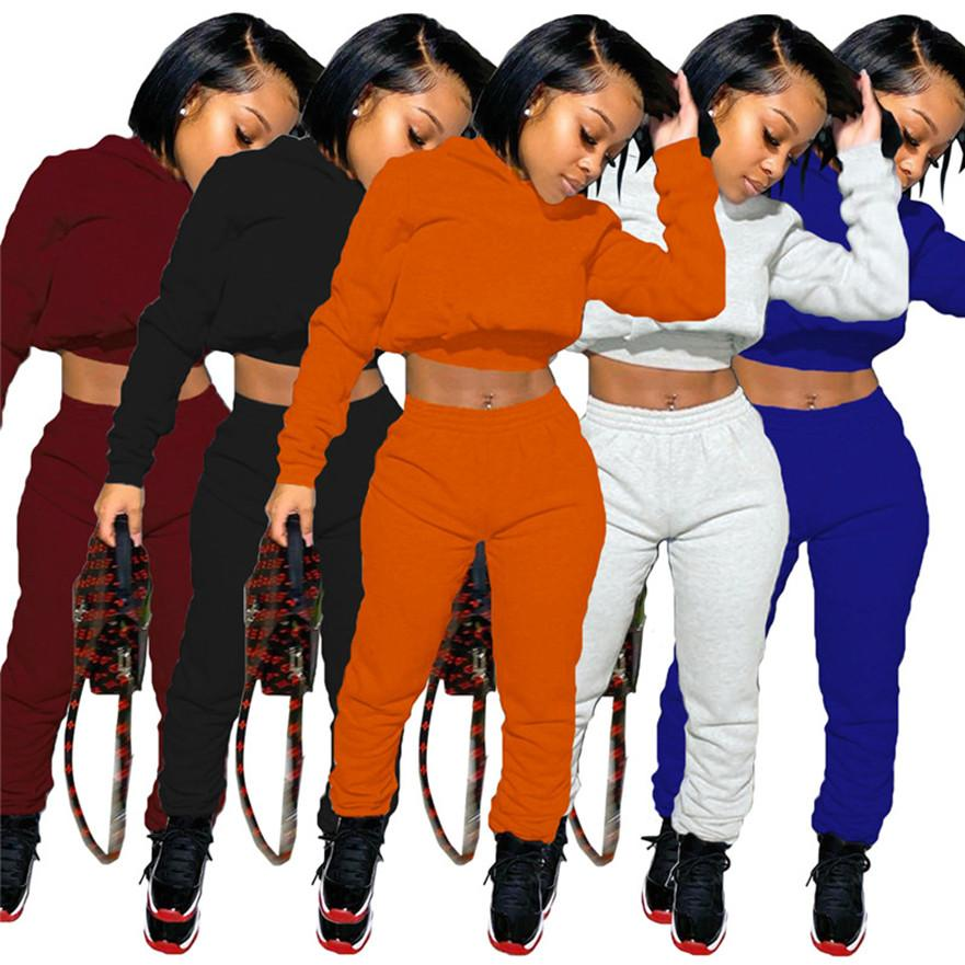 Women Fall Winter Sweat Suits 2 Piece Set Designer Tracksuits Casual Jogger Suits long sleeve sportswear hoodies+capris outfits 3936