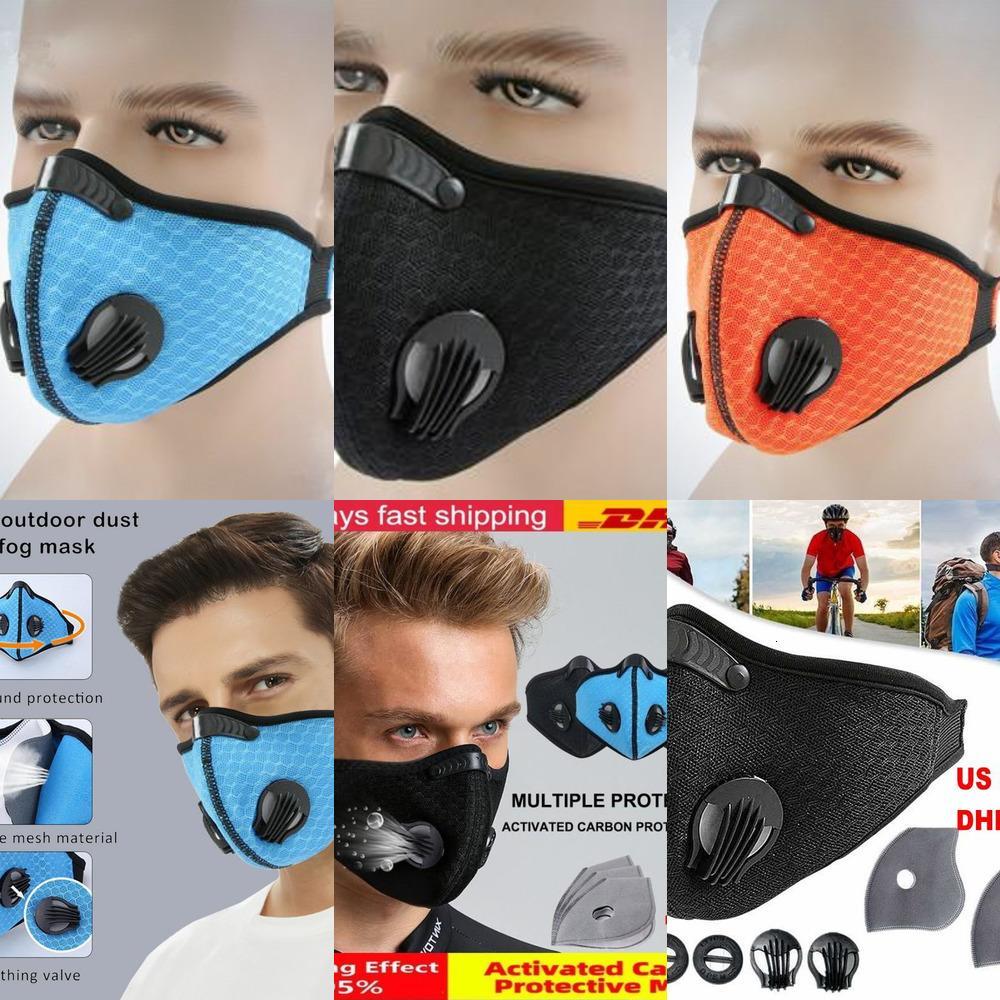 Schnelles Kohlenstoff-Versandventil Gesicht PM mit Lauffilter Sport atmen 2.5 aktivierte MAZ-Training Schutzbike-Maske