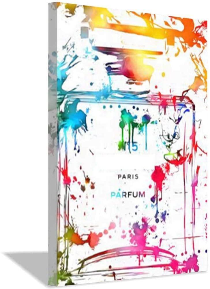 Morden Decor Abstract Profumo Bottiglia Parete Art Canvas Paintings Colorato Parete Immagini per Soggiorno Poster e stampa