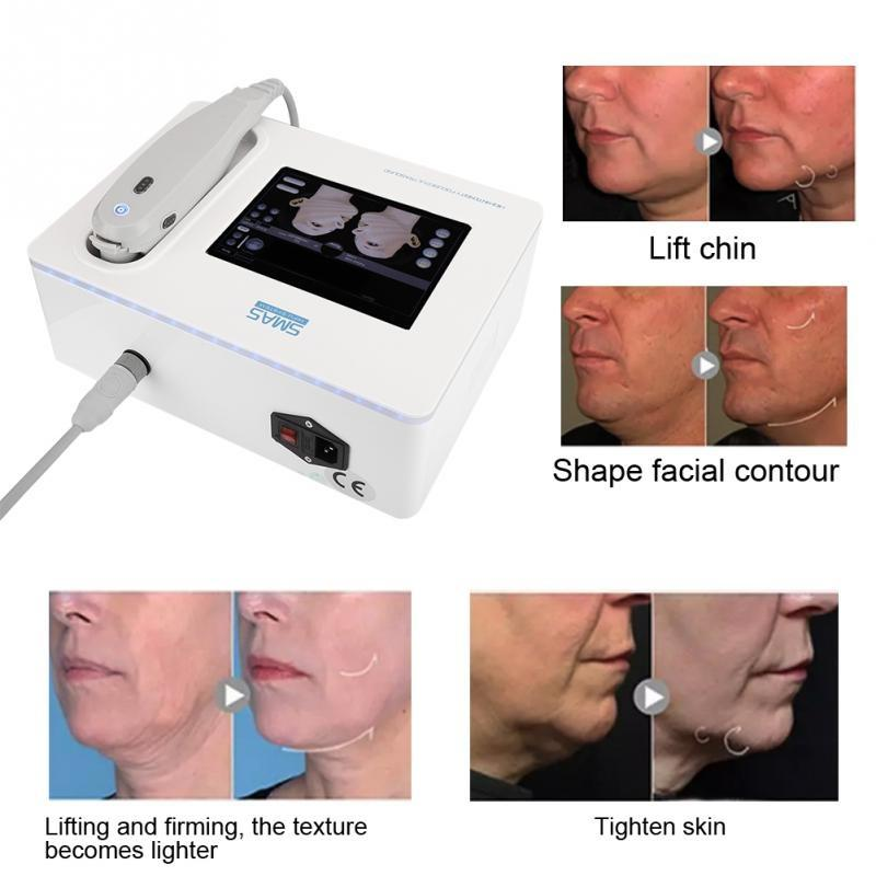 3 خراطيش عالية الكثافة تركز آلة الموجات فوق الصوتية hifu لوجه رفع الجلد الرقبة تشديد التجاعيد إزالة الجسم التخسيس