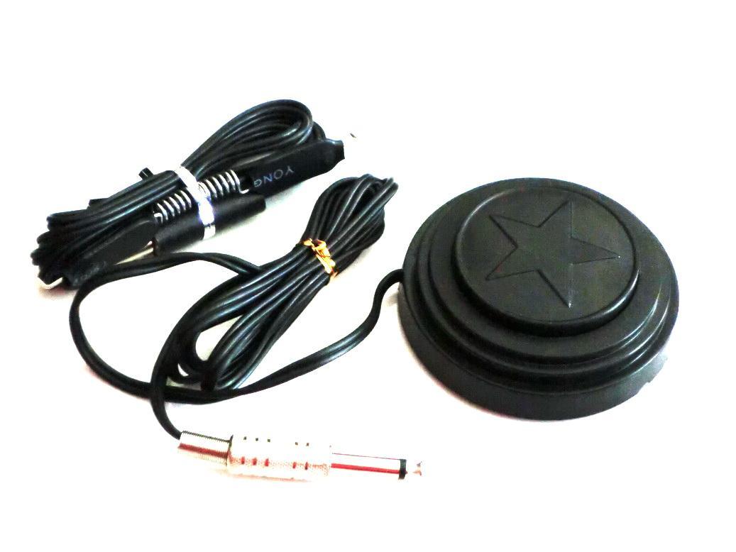 문신 전원 공급 장치에 대 한 문신 클립 코드가있는 검은 스타 문신 발 페달 스위치