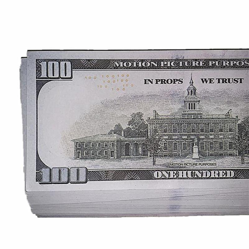 100 1: 1 accessoires accessoires Fast Props Uloft Film Livraison Jouets Simulation Money Bar Design Enfants Cadeaux Papier d'argent 10b Tir de tir QEFVR