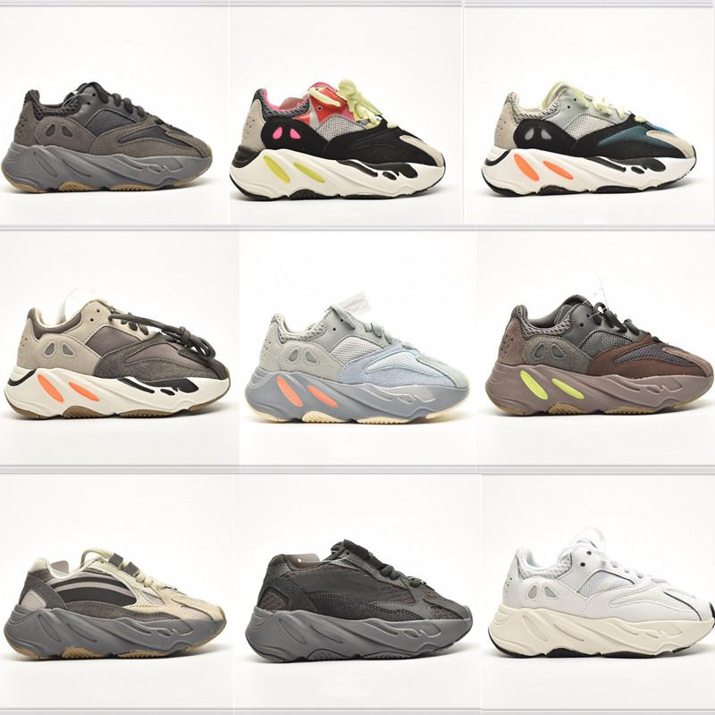 Magnet Infant Kanye 7OOV2 Kids Running Shoes Inertia Mauve Anolog Small Boy Girl Trainers Big Children Fashon Sneakers Wave Runner