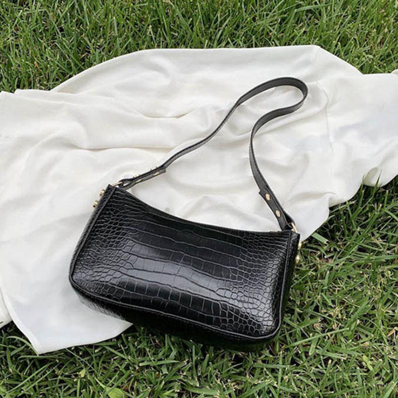 Retro Coccodrillo Pattern Delle Donne Borsa Borsa da donna in pelle PU BAG BAG BAGNA FRANCIA BAGUETTE DESIGN DI DESIGN DI DESIGN DESIGN Lady Lady Tote SAC