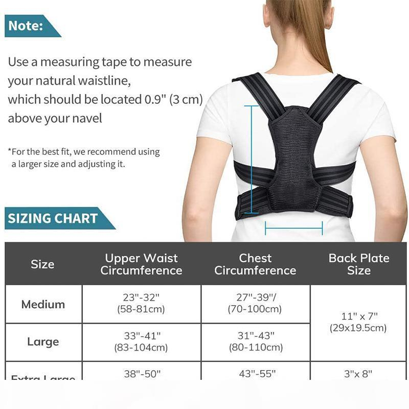 QualityPosture Corrector for Men and Women Spine and Back Support Providing Pain Relief for Neck Back Shoulders Adjustable and Br