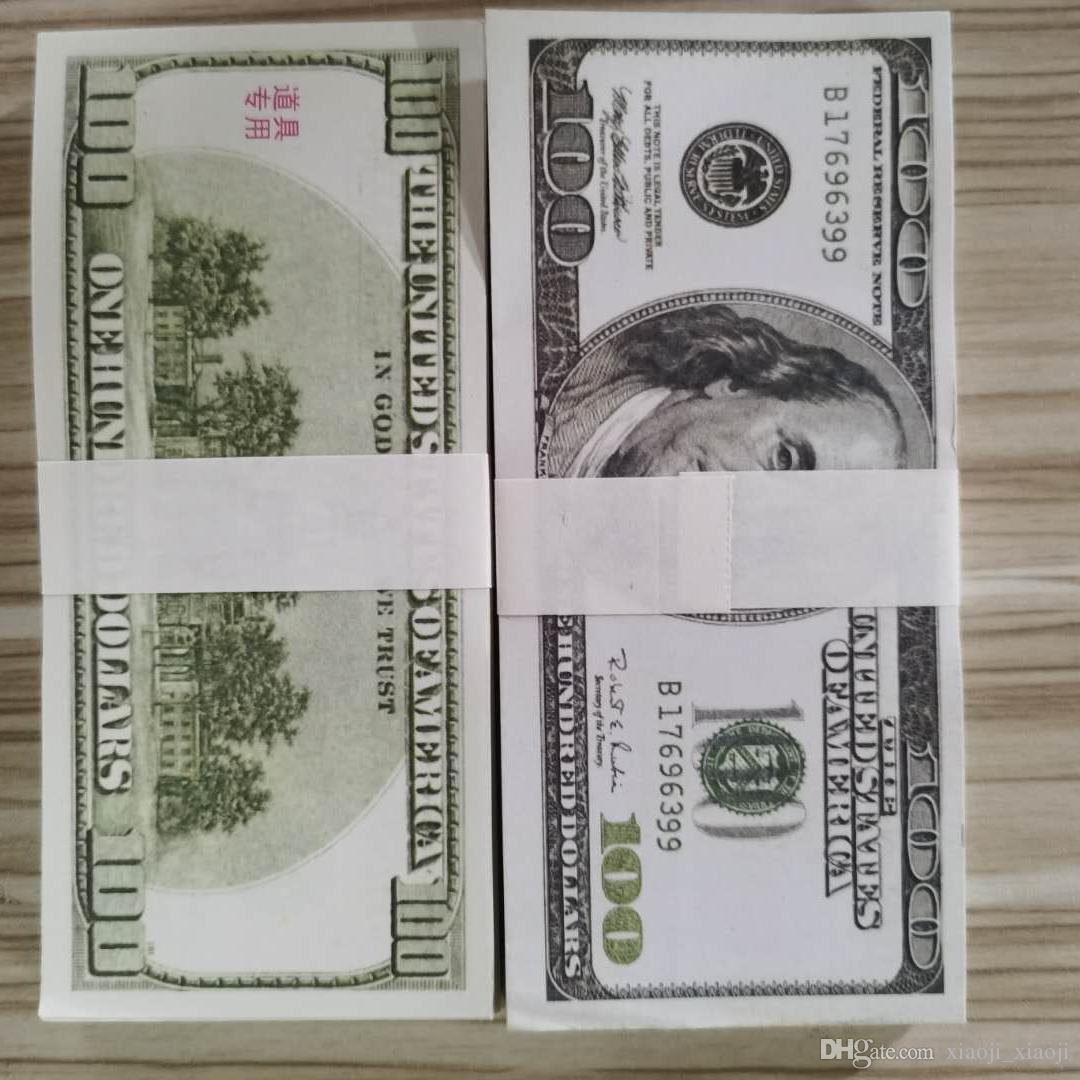 Bills Fake Dollar Wholesale Money 02 Pretend Collection Paper Old Banknote Copy Prop Paper Money For Money 100 100pcs/pack Ktdae