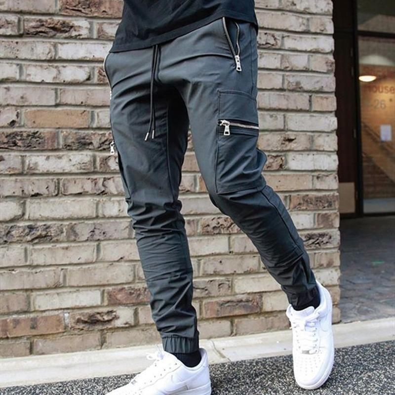 Cargo Harem Hosen Männer Streetwear Multi Taschen Hosen Casual Track Pants Bodybuilding Sweatpants Mode Harajuku Herren