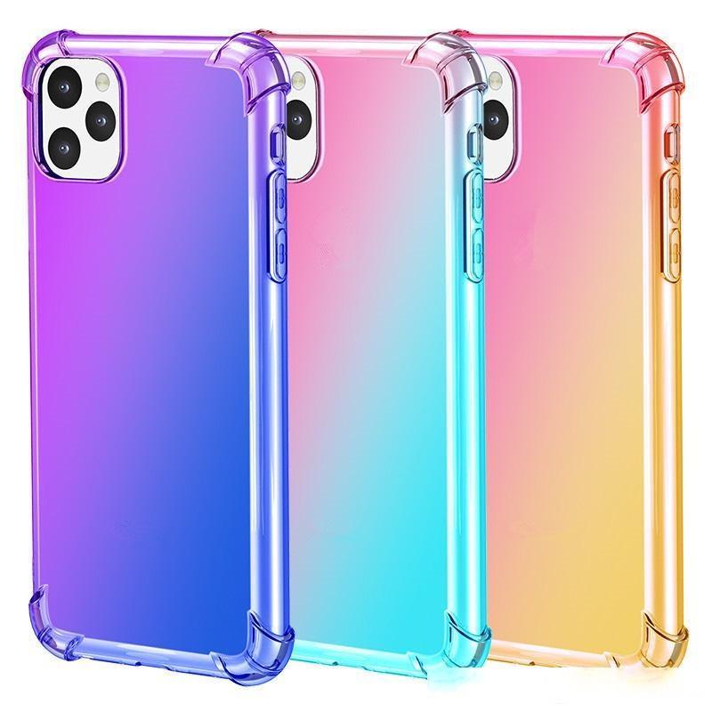 Per iPhone 11 Pro Max 2019 Custodia Air Cushion Air Soft TPU Bumper Gradiente Colour Antiopricoltore Cover Iphone X XR XS Max Samsung Nota10 S10 E S9 Plus