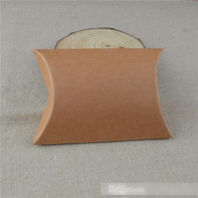 Экологичные Крафт бумага Подарочная коробка Подушка Форма свадьба Подарочные коробки конфет коробка конфет Свадебный подарок Упаковка питания