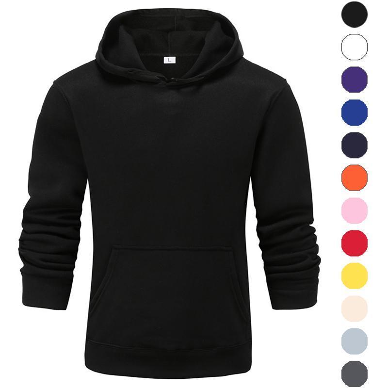 الرجال هوديس بلوزات الخريف الشتاء الأزياء الصلبة اللون هوديي للرجال الأولاد البلوز هودي المتناثرة النساء البلوفرات الطفل الملابس