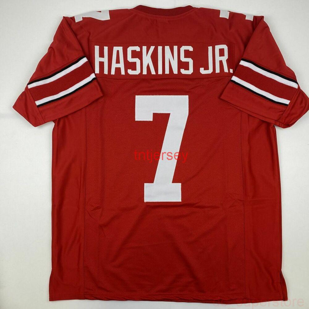 Ucuz Özel Yeni Dwayne Haskins Ohio State Kırmızı Koleji Özel Dikişli Futbol Jersey Erkekler XL Dikişli Herhangi bir Ad Numarası Ekle