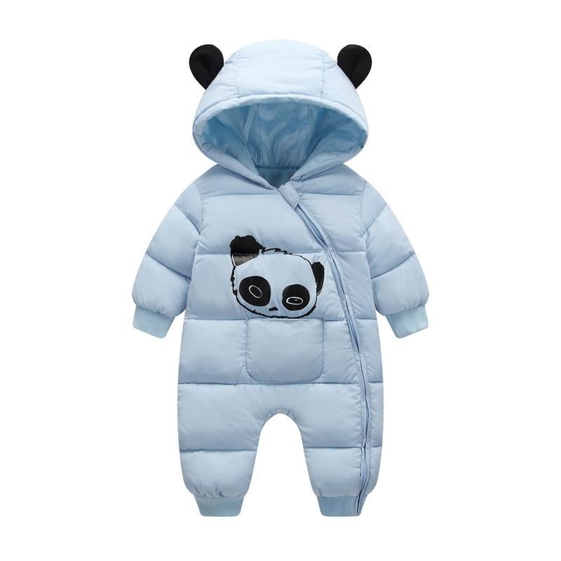 Olekid Winter Baby Snowsuit Dibujos animados Panda grueso cálido recién nacido bebé niña mono jugador snow traje bebé niño mamelucos mono 201030