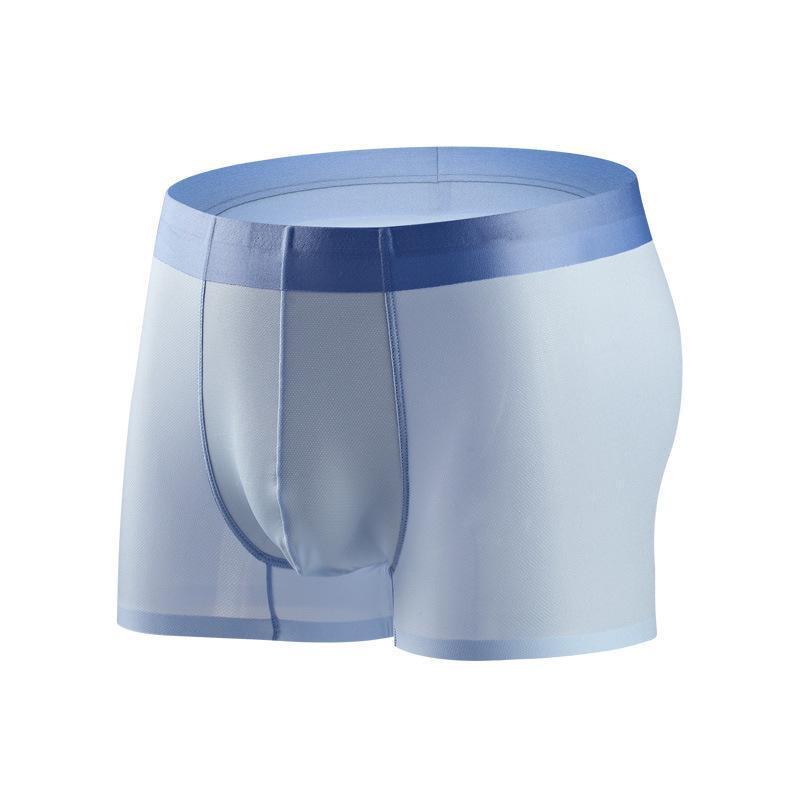 Products Сексуальное нижнее белье Boxer Mesh Hole Ice Silk Мужские боксеры мужские трусики дышащие мужские шорты стволы брюки гей
