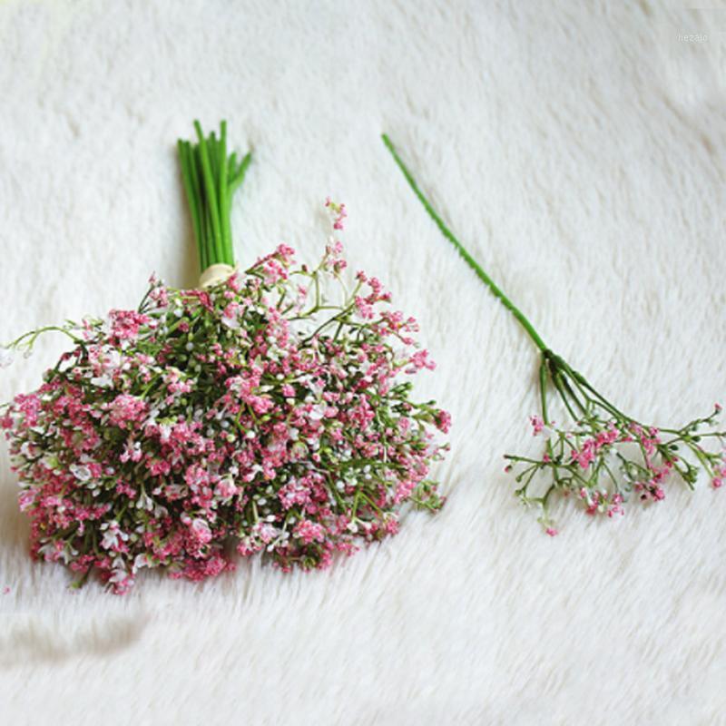 16 unids Bouquets falsos artificiales Gypsophila plantas DIY Flores Florales Arreglo para la fiesta de bodas Hotel Home Garden Decor1