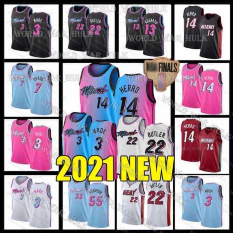 Dwayne Dwyane 3 Wade Tyler 14 Herro MiamiChaleurJersey Jimmy 22 Butler Goran 7 Dragic Bam 13 Adebayo Duncan 55 Robinson Basketball