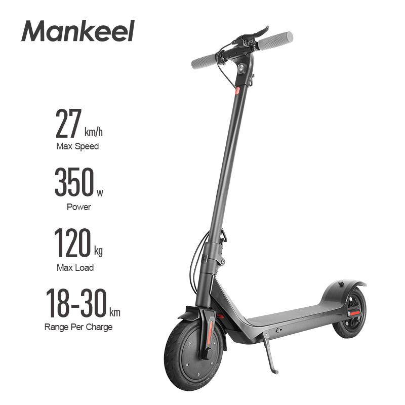 EU-Lagermanekeel Elektrische Roller Erwachsene 350W / 36V Faltbare Räder Roller Solid Skateboard Mini LED Display Power MK042