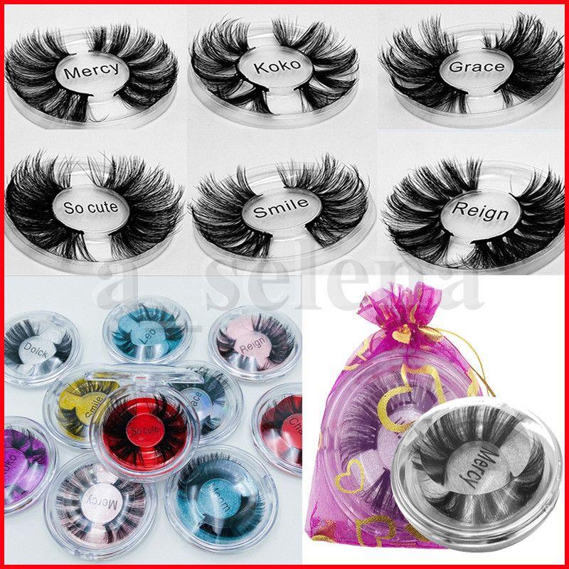 25mm 3D Mink Wimpern Falsche Wimpern 100% Mink Wimpernverlängerung 5D Mink Wimpern dicke lange dramatische Wimpern mit Tasche 10 Arten