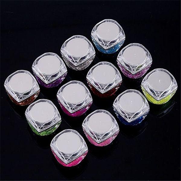 Decorazione per unghie Paillettes lucidi 12 bottiglie